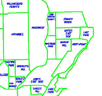 Early 90s MKE Neighborhood Map
