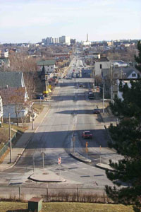 Looking East from Reservoir Hill Down North Ave.