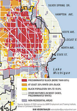 Racial districution map of Riverwest area