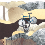 winter bike collage