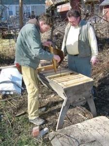 CharlieKoenen and fellow beekeeper WEB